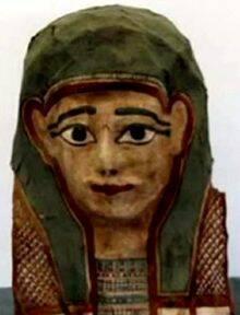 Imagen de la máscara de momia investigada / Ep