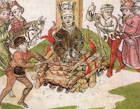 El martirio de Jan Hus.