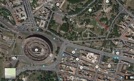 La localización de la plaza. / Google Maps