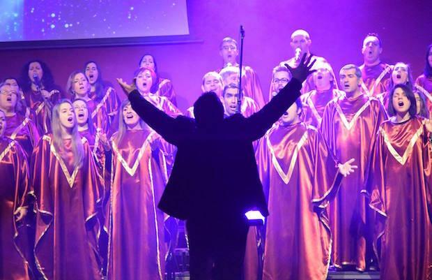 El Coro Gospel Vida, actuando en Pontevedra. / FB Gospel Vida,gospel vida