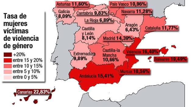Mapa de la violencia de género en España,mujer llorando, mujer triste