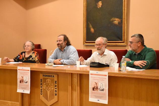 Helena Villar, Alfredo P. Alencart, Xesús Rábade y Miro Villar. / Héctor Rivas,adece santiago de compostela