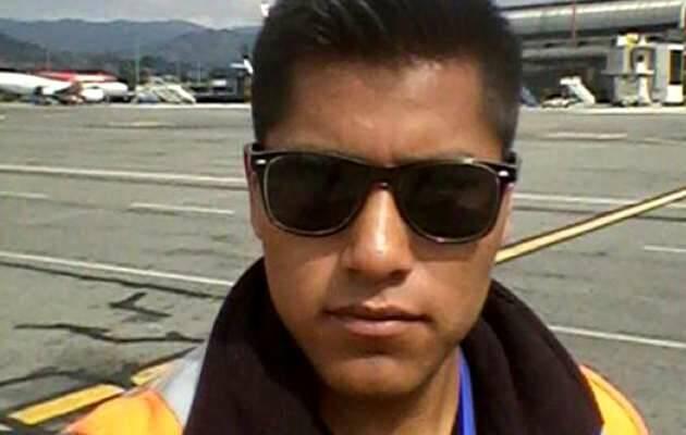 Erwin Tumiri, técnico aeronaútico y parte del equipo de vuelo del avión siniestrado,Erwin Tumiri
