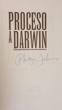 Proceso a Darwin, firmado.