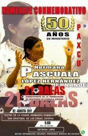 Cartel acto homenaja a Pascuala.