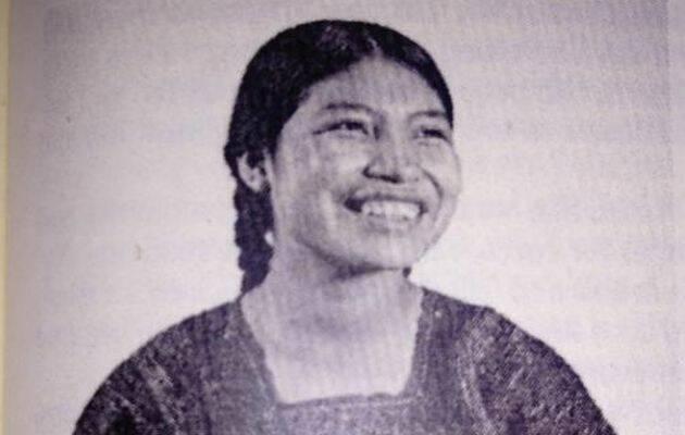 Pascuala López Hernández poco antes del atentado.,