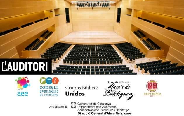 Cartel del concierto del 18 de octubre en el Auditori de Barcelona,Concierto Lutero, Reforma protestante