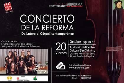 Cartel del Concierto en Madrid