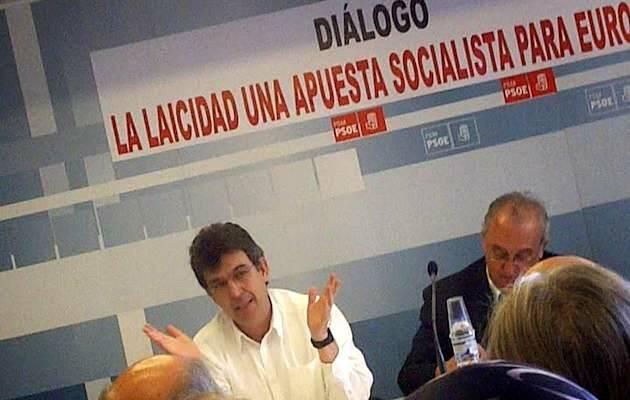 Juan Carlos González, durante una participación en un acto del PSOE,Juan Carlos González, cristianos socialistas