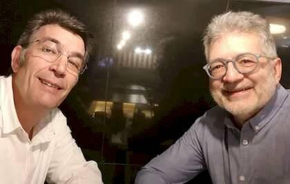J.C. González con P. Tarquis durante la entrevista
