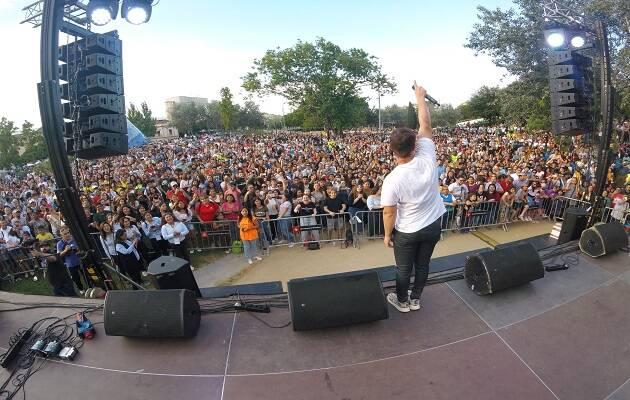 Un instante del concierto de Kike Pavón. / Facebook Festa de les Reformes,