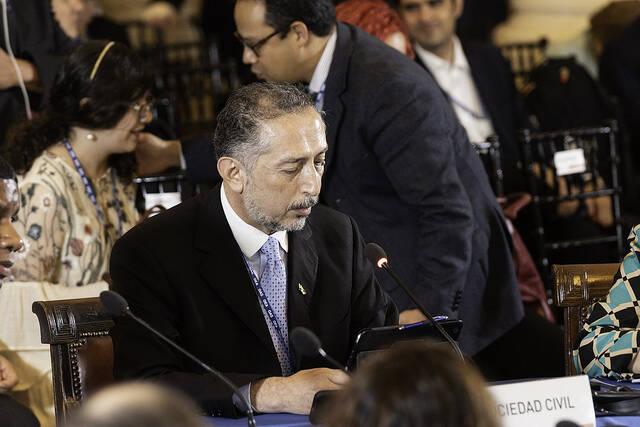 El pastor Gilberto Rocha, en la Asamblea de la OEA. / Nelson Rodriguez, OAS. Flickr (CC 2.0),