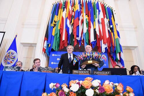 Conclusión de la OEA, en Washington. / OEA,