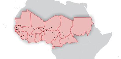La etnia fulani se encuentra distribuida en toda la franja central de África. Se dedican al pastoreo de ganado. Según Puertas Abiertas, es una etnia no alcanzada con el evangelio, dado que el 99% son musulmanes. / Mapa: Puertas Abiertas