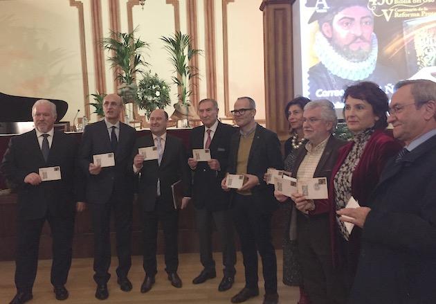 El sello de la Reforma se presentó en sociedad este lunes, 14 de enero, en un acto en el Liceo de Ourense. / Daniel Hofkamp,