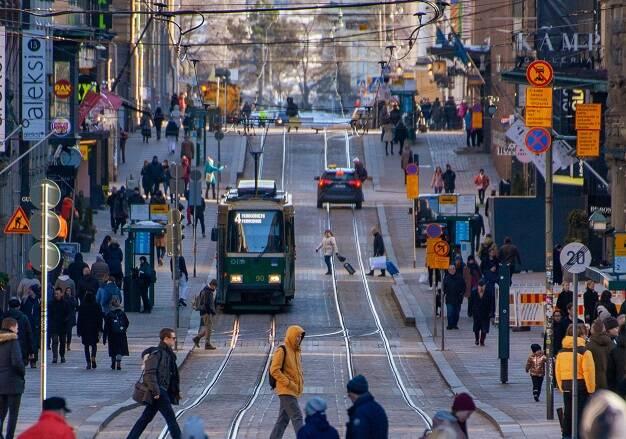 Vista de una de las calles principales de Helsinki. / Tapio Haaja, Unsplash CC,