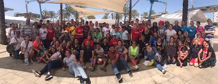 Más de 70 voluntarios trabajaron durante la semana. / FADE
