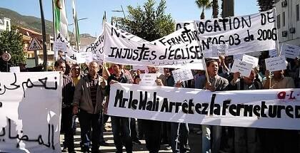Otra imagen de la protesta. / Foto via Evangelical Focus