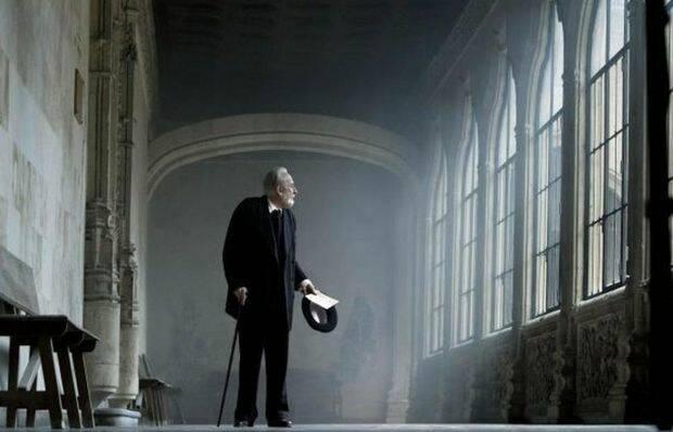 Unamuno, en una escena de la película de Abenámar,Unamuno, en una escena de la película de Abenámar