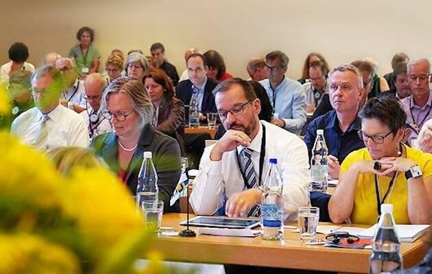 Una asamblea de la Federación de Iglesias Evangélicas Suizas. / SEK,