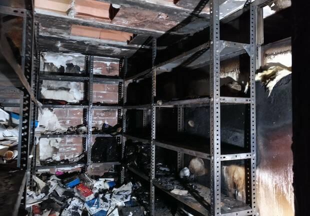 La zona del almacén fue una de las más afectadas. / GBU