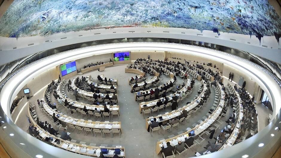 """Imagen de un instante en la 16ª sesión del Consejo de Derechos Humanos de Naciones Unidas celebrada en Ginebra. / <a target=""""_blank"""" href=""""https://www.flickr.com/photos/un_photo/"""">Naciones Unidas</a>, Flickr CC,"""