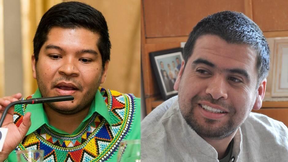 El panameño Javier Alvarado y el chileno Marcelo Gatica.,