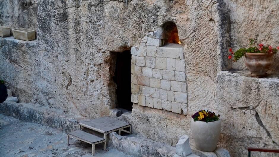 Imagen de la llamada Tumba del Jardín en Jerusalén.,