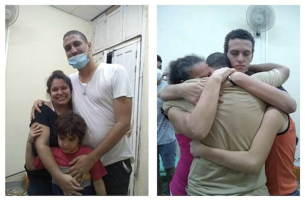 Los pastores cubanos Yéremi Blanco y Yarián Sierra salen de la cárcel