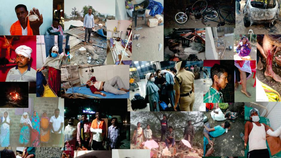 Mosaica con algunas de las imágenes recogidas de los casos que se documentan en el informe. / EFI,